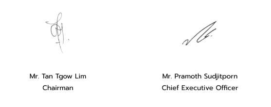 Message form Chairman and CEO