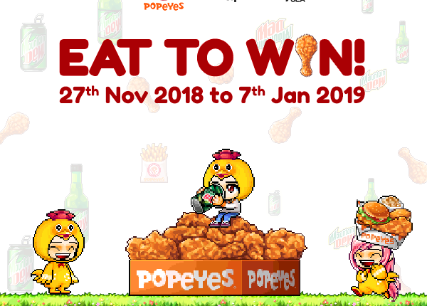 Popeyes eat to win